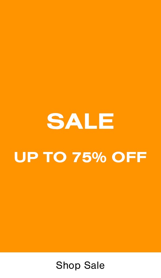 up to 75 percent off everything